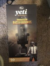 Blue Yeti Blackout & Playerunknown's Battlegrounds USB Microphone - NEW