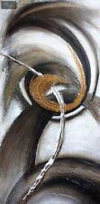 """Arte Abstracto-movimientos circulares 24x48 """"Pintura Al Óleo Arte Moderno"""