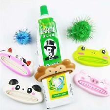 5PCS Bathroom Tube Rolling Holder Squeezer Easy Cartoon Toothpaste Dispenser SET