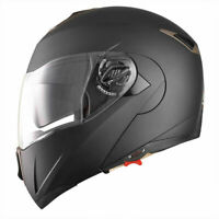 DOT Flip up Modular Full Face Motorcycle Helmet Dual Visor Motocross Size M L XL