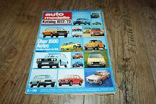 Voiture Modèles catalogue 1972/1973 Triumph, Rover, Porsche, mersedes, etc