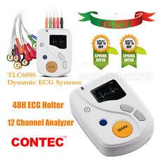 Dynamic ECG/EKG holter TLC6000 48 hours Recorder&Analysis software USB OLED