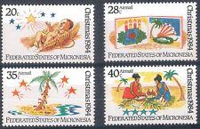 Micronesia_ Christmas Child's drawing  1984 Mi FM 28/31 MNH