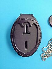 NCIS CLIP ON LEATHER  BADGE HOLDER , FREE S/H FREE RETURNS