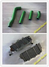 Aluminum Radiator & Silicone Hose Fit Kawasaki KX500 1985-1986 Water Cooling