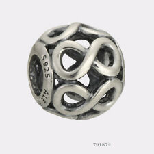 NEW AUTHENTIC Pandora 925 Silver Infinite Shine Bracelet Charm 791872
