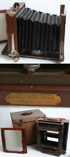 Antique Gundlach Korona 8x10 Large Format Wooden Camera w/Glass Back   Orig Case