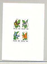 Palau #300 Butterflies 1v Block of 4 Imperf Proof in Folder