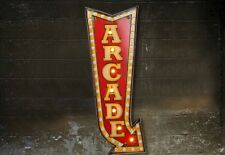 ARCADE GAME ROOM LED Metal Sign Vintage Look. PERFECT FOR GAME ROOM/MAN CAVE
