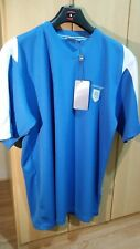 Dunlop Performance sport Mens T shirt  Blue & White Medium V Neck New With Tags