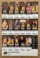 2012 WNBA LOS ANGELES SPARKS FULL BASKETBALL HOME TICKET SHEET - CANDACE PARKER