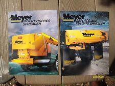 Vintage Original Myer Snow Plows Insert Hopper Tailgate Spreader Flyer Brochures