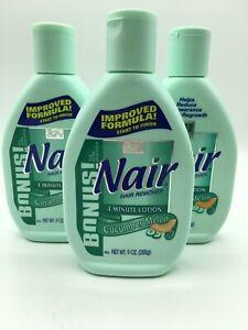 3 Nair Hair Remover Cucumber Melon 9 oz Vintage Rare Bs67