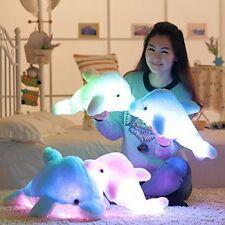 "LED Plush Dolphin Stuffed Animal Blue Light Up Kids Toy 18"" Night Light Gift NEW"
