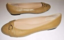 New Longchamp ~ Art to Wear ~ Tan Buckle Ballet Flats ~ 40