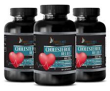 Garlic tablets - NEW CHOLESTEROL RELIEF FORMULA - lowers bad LDL cholesterol - 3