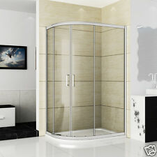 1200x900 Quadrant Shower Enclosure Glass Shower Cubicle Stone Tray Left Entry