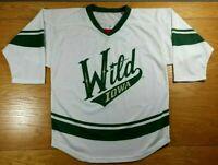 IOWA WILD 100% Polyester Minnesota Wild Minor League SGA Hockey Jersey Youth XL