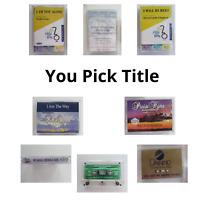 Christian Praise Accompaniment Tracks Hi-Med-Low Cassette Tapes You Pick Title