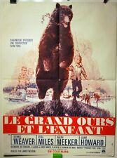 AFFICHE CINEMA 1966 LE GRAND OURS ET L'ENFANT (mon ami BEN) 80x60