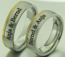 2 Trauringe Eheringe Verlobungsringe Bicolor mit Gravur