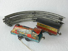 Vintage Wind Up 950 Rana Protap ' K ' Mark Litho Train Tin Toy With Track