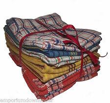 Tea Towel Set of Eight 8 Pack Cotton 39cmx 64cm Check Striped Teatowels Towels
