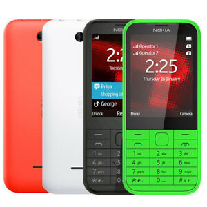 Original Nokia 225 Unlocked Dual SIM English Hebrew Keyboard Phone New Condition