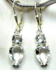 Bergkristall Ohrhänger 925 Silber wertvoll funkelndes Design fac. Edelsteine neu