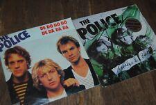 """2 X SINGLE 7"""" VINYL POLICE """"Message In a Bottle"""" / """"De do do do De da da da"""""""