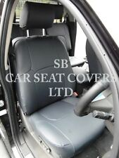 TO FIT A NISSAN NAVARA CAR, SEAT COVERS, BLACK LEATHERETTE FULL SET