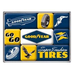 Goodyear Logos set of 9 mini fridge magnets    (na)