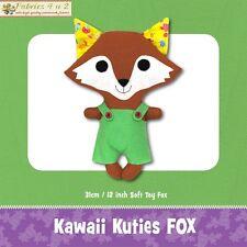 Kawaii Kuties Fox Softie Toy Cute Boys Girl - Sewing PATTERN Funky Friends
