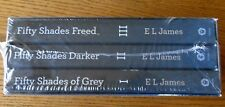 EROTIC FICTION FIFTY 50 SHADES OF GREY SET  3 BOOK  SOFT COVER NEW  e l james