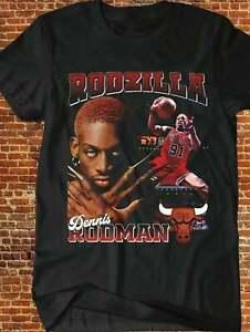 RODZILLA DENNIS RODMAN Black T-Shirt Size S-5XL
