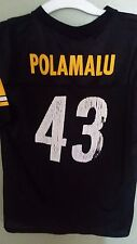 PITTSBURGH STEELERS TROY POLAMALU FOOTBALL JERSEY SIZE XL YOUTH