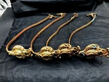 Scarce Group Of 4 Late 1800S French Bronze Dore Curtain Tiebacks