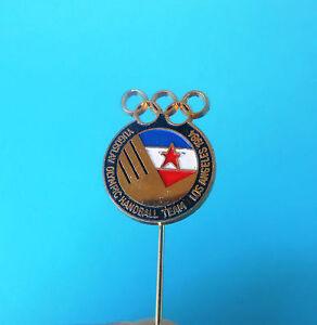 YUGOSLAVIA NOC for OLYMPIC GAMES LOS ANGELES 1984 old pin badge * Handball team
