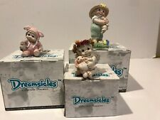 Dreamsicles Figure Original Boxes Easter Lot 3 Bunny:Hug-Honey-To Love Signed!