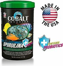 Cobalt Spirulina Premium Flakes Fish Food 5oz