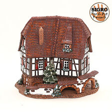 Keramik Teelichthaus Lichterhaus Teelichthalter Modell Fachwerkhaus 14 cm 40517