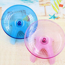 Cy_ Pet Hamster Flying Saucer Exercise Wheel Mouse Running Disc Cage Toy