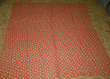 ANTIQUE VINTAGE COTTON FABRIC!! RED/BLUE FLOWERS! BACK OF QUILT *SALE* $20 OFF