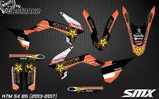 KTM SX 85 2013-2017 motocross graphics kit decal MX decor kit for SX85 2016 2015