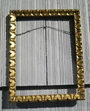 Antique Art Crafts Picture Frame Gilt Patterned Finish 7 x 9