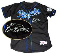 Authentic Kansas City Royals Autographed Black Jersey Signed by Billy Butler