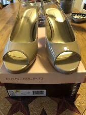 New! Bandolino Nude Patent/Leather/Open Toe Slingback Heels Sz 9.5 M. BD7Melt