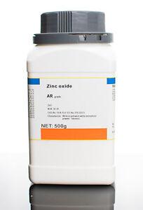 Zinc oxide ZnO high purity AR grade Australian seller SYDNEY +Lab Bottle 500g