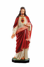 STATUA SACRO CUORE DI GESU' JESUS SACRED HEART Fiberglass Cm.156. 61 inch