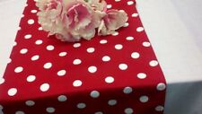 "RED POLKA DOT Table Runner, White dots,72""L,  MINNIE MOUSE DISNEY PARTY WEDDING"